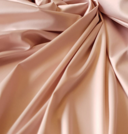 Powder pink satin fabric. Photo 5