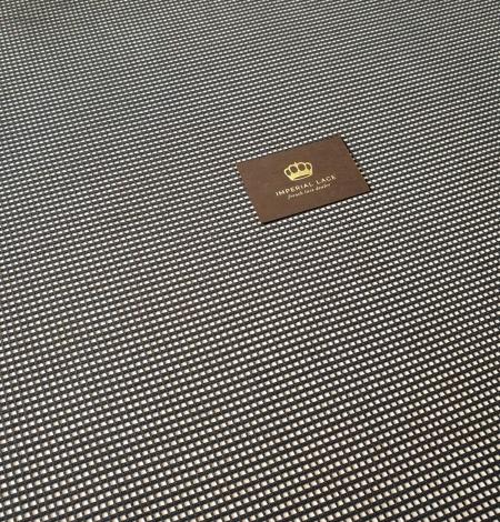 Black guipure mesh lace fabric. Photo 5
