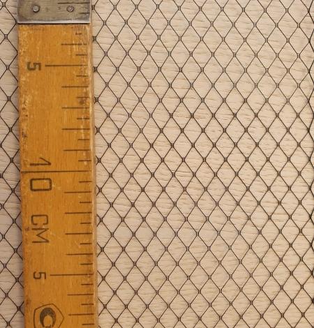 Black hat net tulle fabric. Photo 12