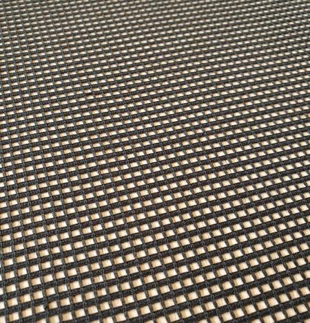 Black guipure mesh lace fabric. Photo 7