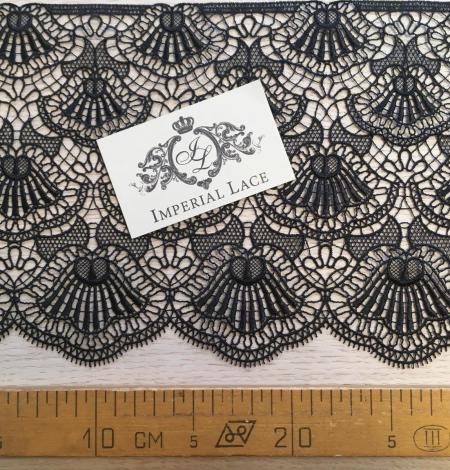 Black macrame lace trimming. Photo 8