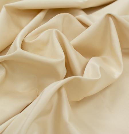 Cream color silk duchess fabric . Photo 4