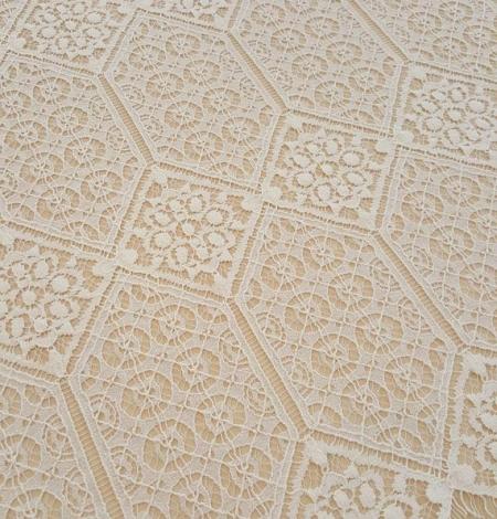 Ivory Lace Fabric. Photo 1