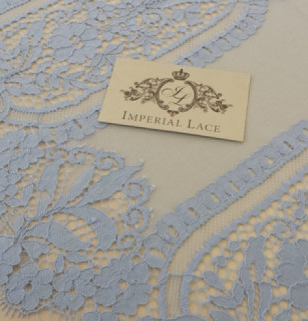 Blue Lace Fabric. Photo 2