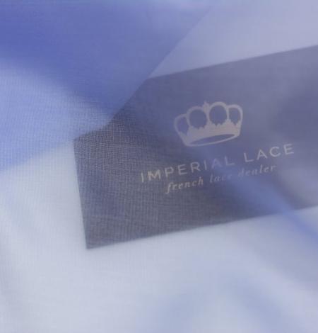 Blue with grey shade silk organza fabric . Photo 8