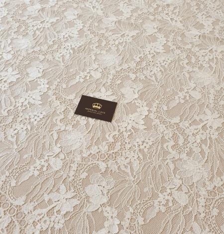 Ecru guipure lace fabric. Photo 6
