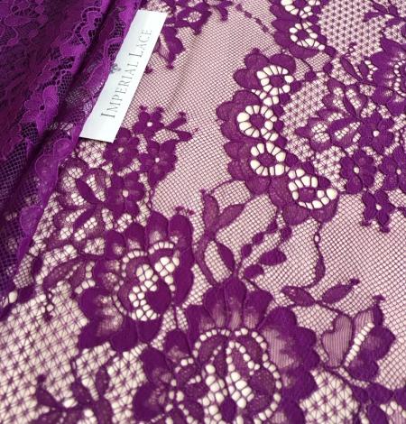 Violet lace fabric. Photo 3