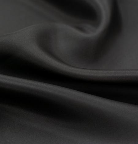 Black grey silk lining fabric . Photo 4