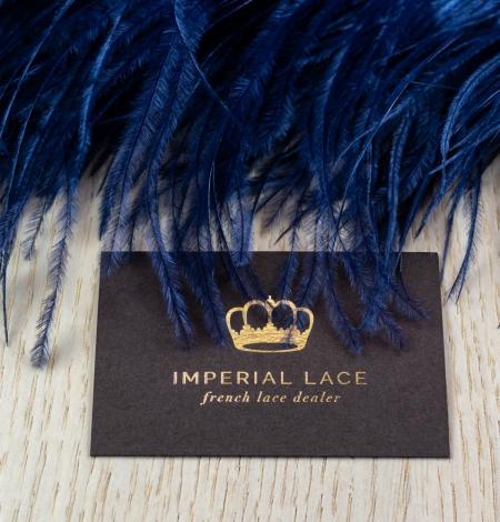 Dark blue natural ostrich feather. Photo 6