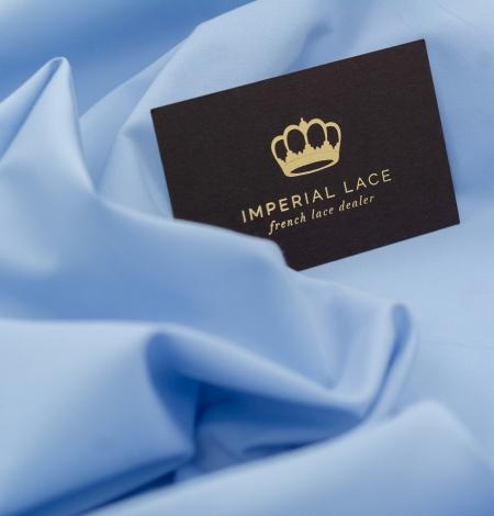 Blue cotton fabric. Photo 7