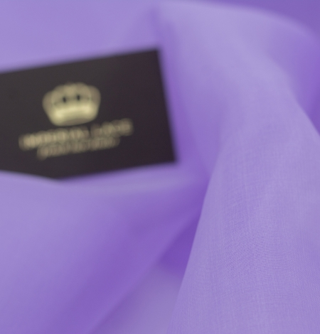 Lilac silk organza fabric. Photo 3