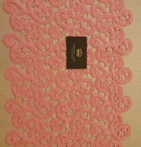 Pink macrame lace trimming. Photo 4