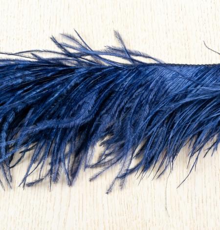 Dark blue natural ostrich feather. Photo 7