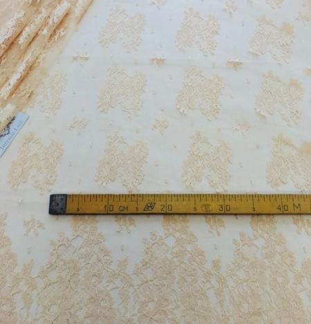 Rusty yellow lace fabric. Photo 9