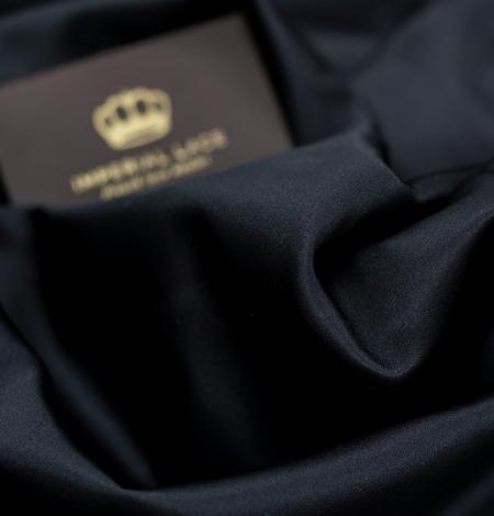 Black silk duchess fabric. Photo 4