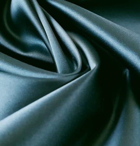 Sea blue polyester with elastane satin fabric. Photo 3