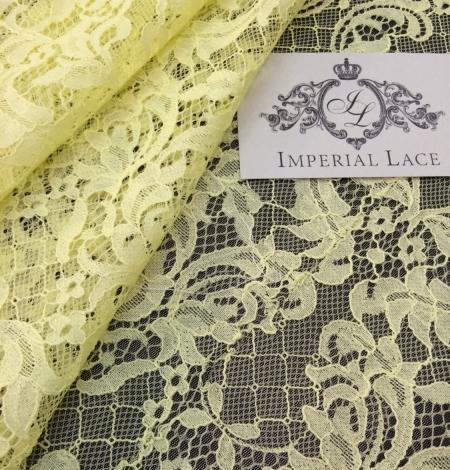 Yellow Lace Fabric. Photo 2