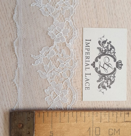 Light grey natural chantilly lace trimming by Jean Bracq. Photo 6