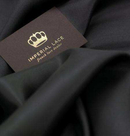 Black grey silk lining fabric . Photo 7