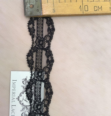 Black lace trimming from France. Photo 5