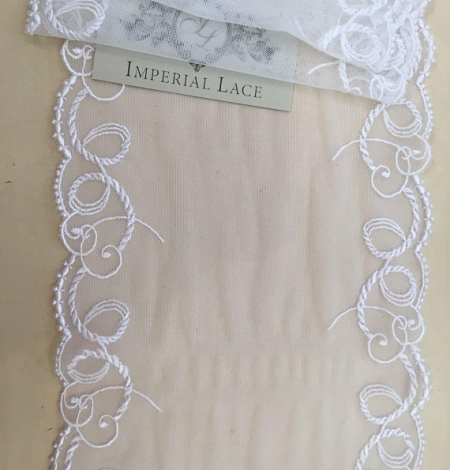White elastic lace trim. Photo 2