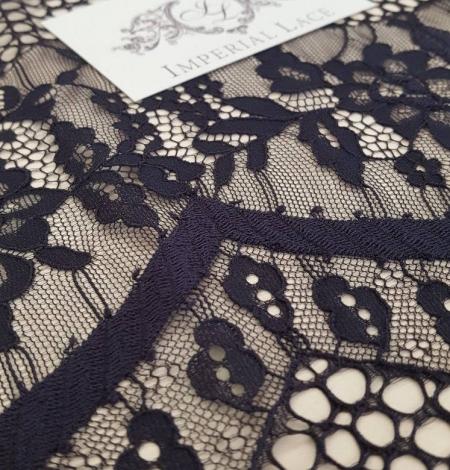 Black lace fabric, French Lace, Alencon Lace. Photo 4