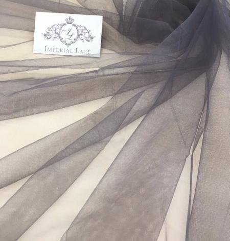 Grey tulle fabric. Photo 5
