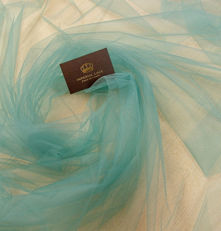 Laguna sea green soft tulle fabric from Italy. Photo 2