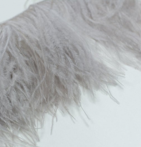 Grey lilac natural ostrich feather. Photo 5