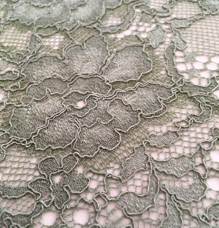 Khaki lace fabric. Photo 3
