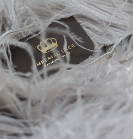 Grey lilac natural ostrich feather. Photo 1