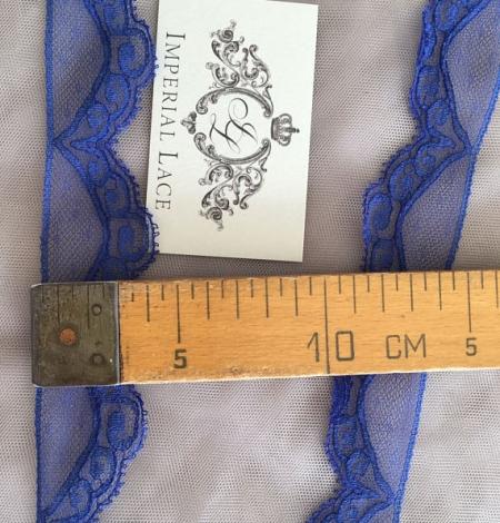 Blue Chantilly lace trim. Photo 5