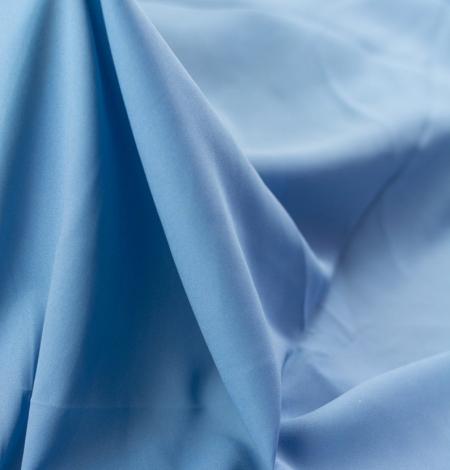 Blue silk with elastane crepe fabric. Photo 8