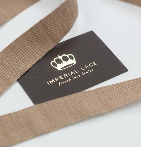 Brown lana wool ribbon . Photo 1