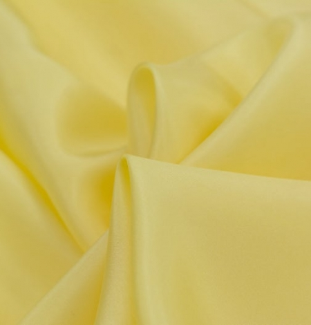 Yellow silk lining fabric . Photo 3