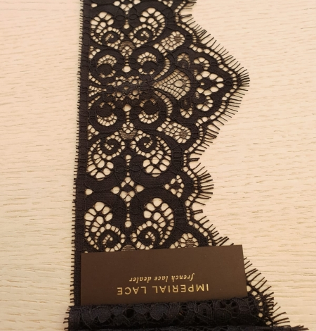 Black guipure lace trimming. Photo 4