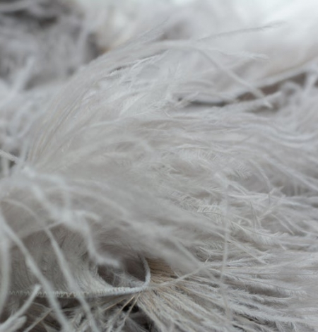 Grey lilac natural ostrich feather. Photo 4
