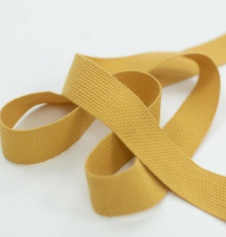 Mustard yellow decorative ribbon. Photo 2