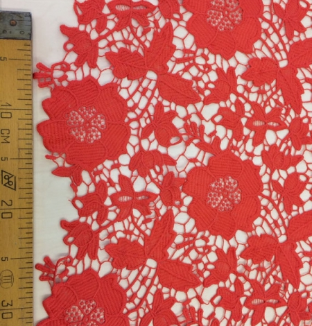 Coral Lace Fabric. Photo 4
