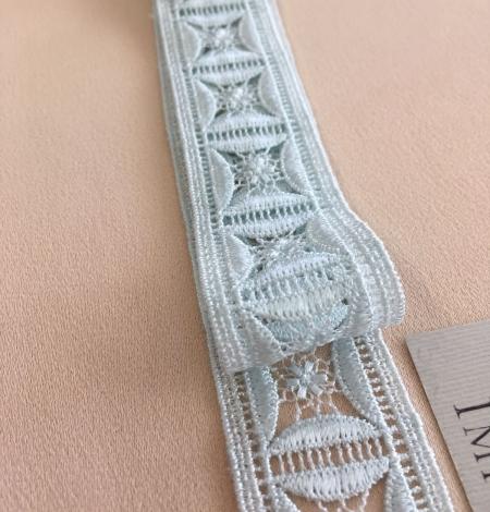 Light blue lace trim. Photo 3