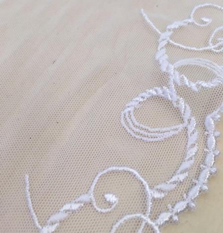 White elastic lace trim. Photo 3