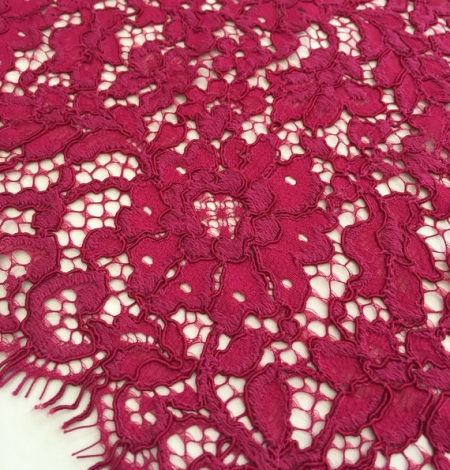 Burgundy Lace Fabric. Photo 2