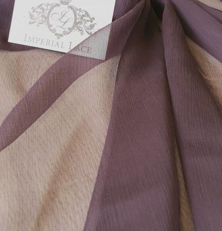 Dark lilac light silk crincle chiffon fabric. Photo 2