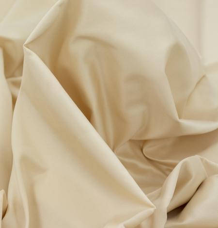 Cream color silk duchess fabric . Photo 10