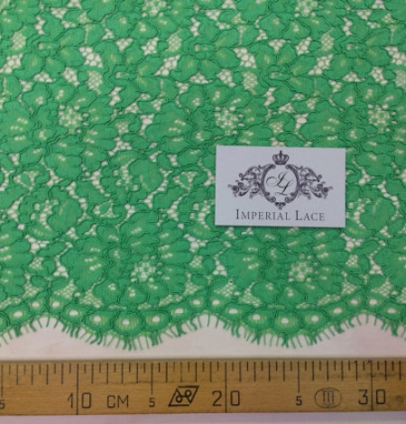 Apple Green Lace Fabric. Photo 4