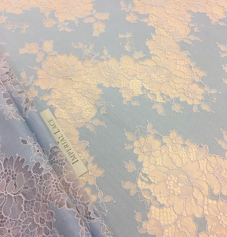 Blue Lace Fabric. Photo 6
