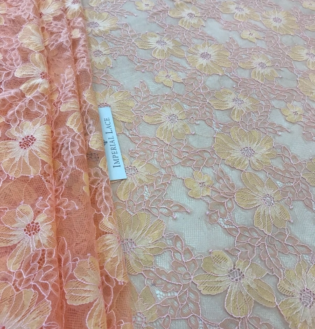 Orange lace fabric. Photo 8
