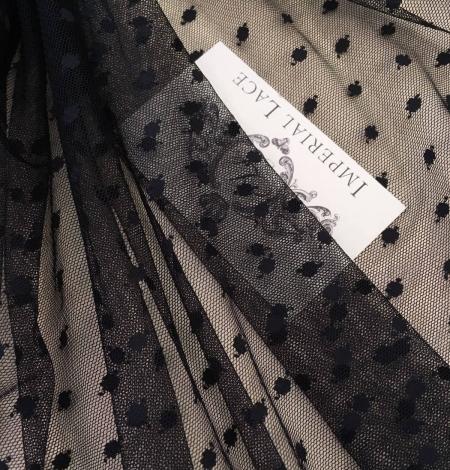 Black tulle fabric. Photo 1