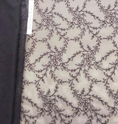 Dark lilac lace fabric. Photo 6