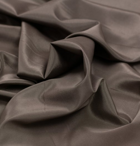 Brown viscose with elastane lining fabric . Photo 3